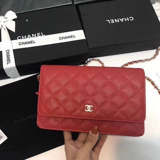 Chanel Woc in red Caviar