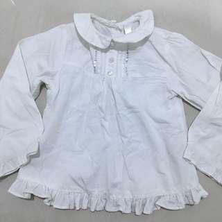 Baby White Blouse