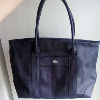 Free shipping! Lacoste Leather Tote