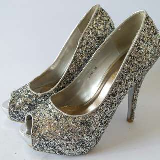 So Fab silver heels