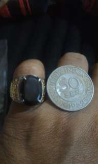 smoky quartz (free gift old coin)