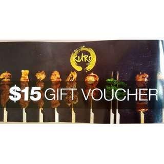 $15 Kuro Izakaya Gift Voucher