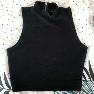 New Black Crop top