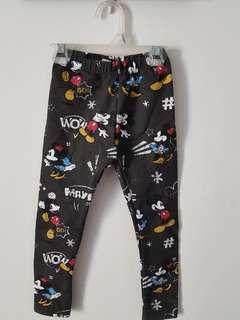 Unused ZARA Mickey Mouse Print Leggings size 3T
