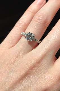 1.18 carat ring engagement diamond ring F VS2