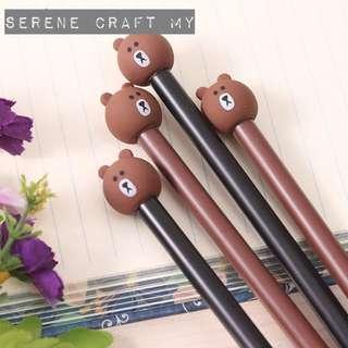 Bear Black Gel Ink Pen