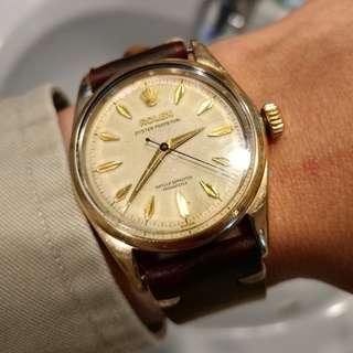 <Rare> Vintage Rolex ref.6634 金套 完裝面