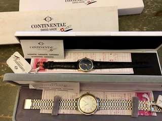 Continental®️ watch 男女裝電子表, Swiss made