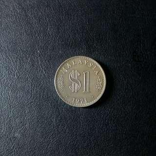 Syiling 1 ringgit tahun 1971
