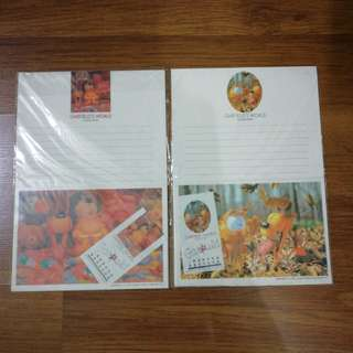 (Include Pos) Garfield Envelopes and Papers set
