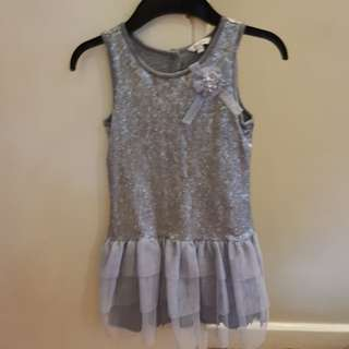SALE PERIWINKLE Silver sequin dress