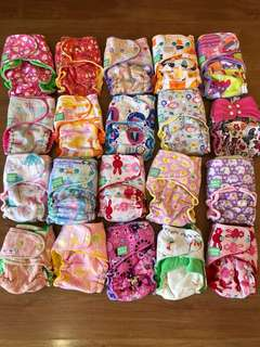 Hybrid Fitted Diapers (as lot)