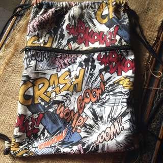 Pop Art Comic Drawstring Bag