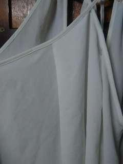 Sheer fabric flowy top
