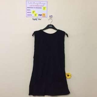 Brand New Black V Neck Knit Skirt Jumper