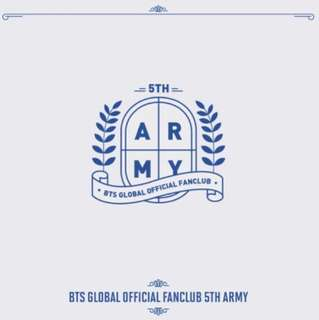 BTS 5th Term ARMY Membership