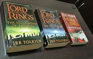FREE shipping (Metro Manila): The Lord of the Rings Trilogy - all 3 books for P700.00