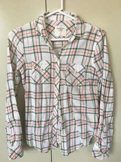 Abercrombie & Fitch checkered flannel shirt