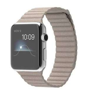 Apple Leather Loop Strap Band 42mm Authentic