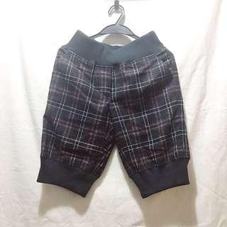 🚚 英倫格子毛呢短褲
