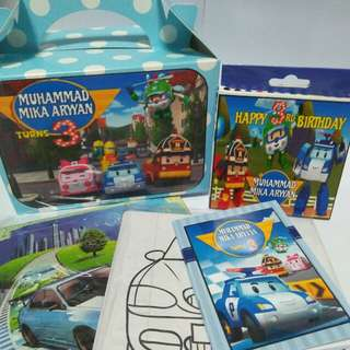 Customised Robocar Poli Goodie Box