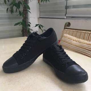 Black Canvas Sneakers (size 12)
