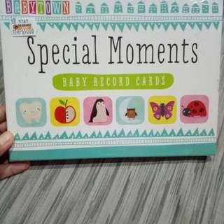 Baby Record Card - Special Moments