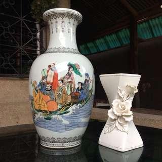 Flower vase and bowl