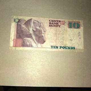 埃及纸币10 Pound