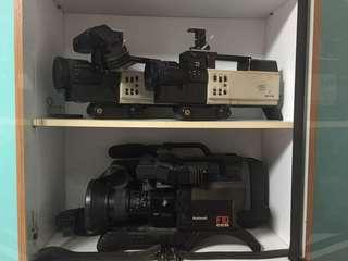 Vintage video cameras