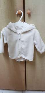 H & M baby white suit