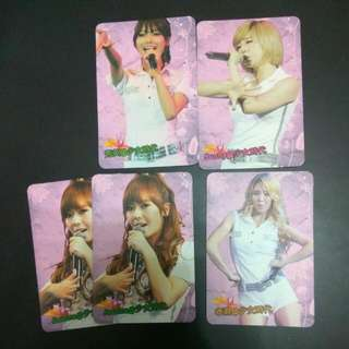 Yescard Girls' Generation 少女時代 孝淵 Jessica 鄭秀妍 Sunny 李順圭 秀英