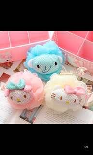 *包郵* 正品Sanrio Hello Kitty Melody 小飛象柔軟洗澡沐浴球