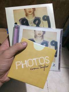 Taylor Swift : 1989 (Deluxe Album) with Polaroid photos of ms. Swift