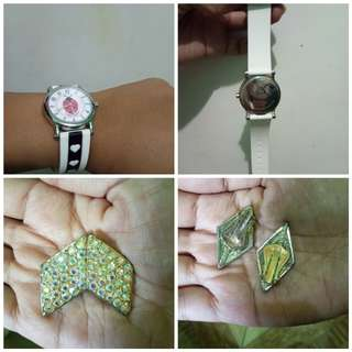 Sunday sale only! Buy 1 get 1Juicy Couture Watch and Swarovski Vintage Earrings
