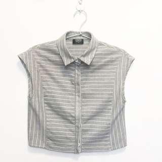 RWB grey stripes blouse