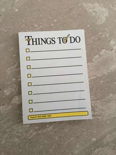 Things to do post it