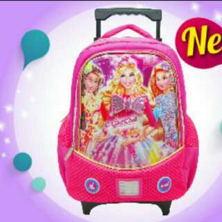 Swan Roll Trolley School Bag  (Egirl )