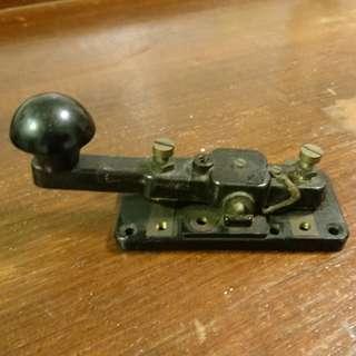 Vintage Morse Code Telegraph Key