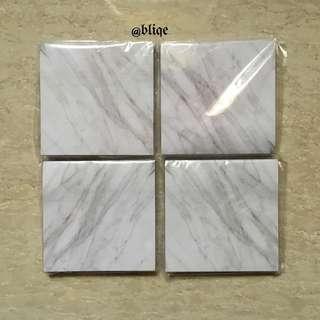 [INSTOCK!] Post-it Marble Design 7cm*7cm.