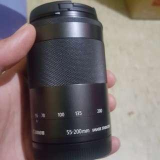 🚚 Canon eos m 55-200