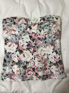Zara floral corset top
