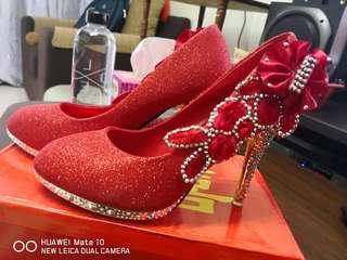 Red High Heel (glitter Red)