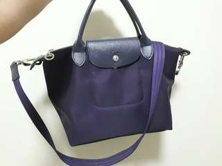 REPRICED! - Longchamp Neo in Bilberry