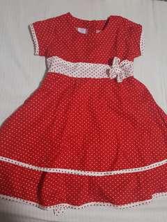 Red Star Dress for Little Girl 2T