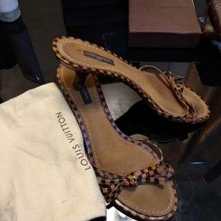 Authentic LV kitten heels