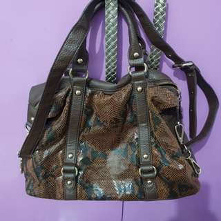 Capacci brown sling bag