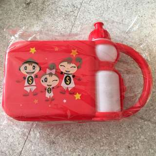 Mighty Savers lunch box and water bottle