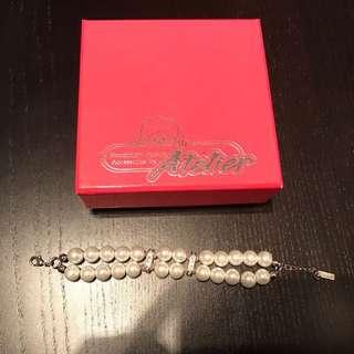 Atelier crystal pearls bracelet ,水晶珍珠手鏈