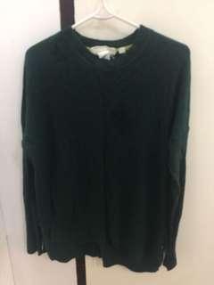 H&M Green Sweatshirt
